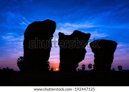 Karsts at dusk in Thailand  Asia