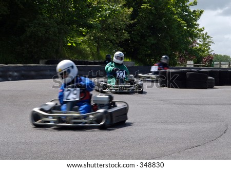 Kart Racing - stock photo