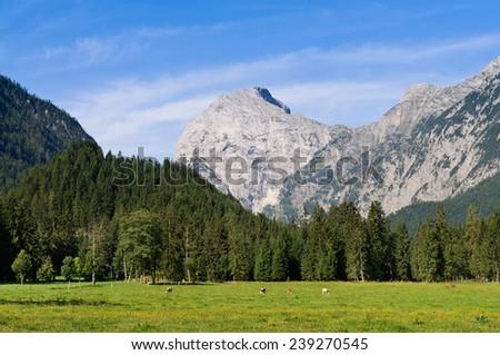 Karwendel valley near Pertisau am Achensee, Tirol, Austria - stock photo