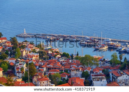 Kas city in day time. Turkey, Asia