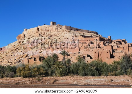 kasbah ait benhaddou set film gladiator morocco - stock photo
