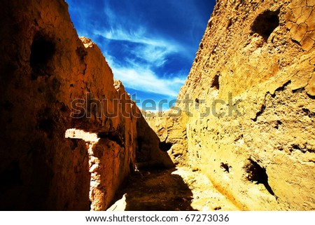 Kasbah in Middle Atlas Mountains, Morocco - stock photo