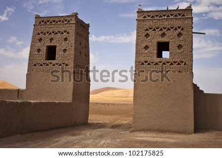 Kasbah in Morocco - stock photo