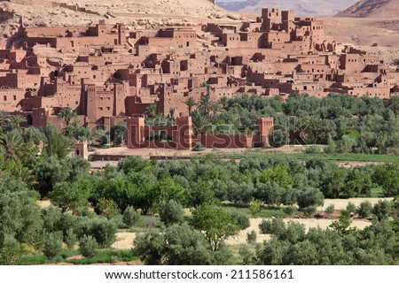 Kasbah of Ait Benhaddou, Morocco - stock photo
