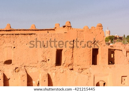Kasbah Taourirt in eastern Ouarzazate, Morocco.