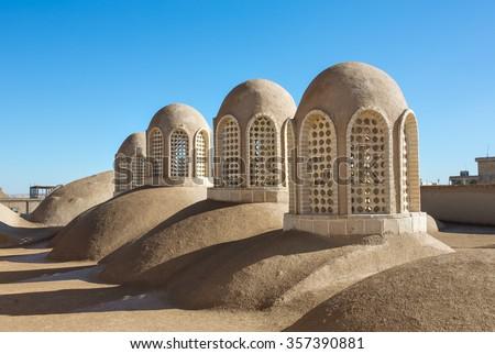 Kashan Bazaar roof, Iran - stock photo