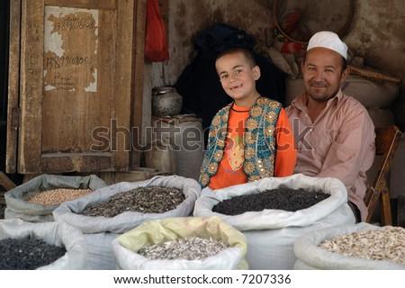 Kashgar market - stock photo