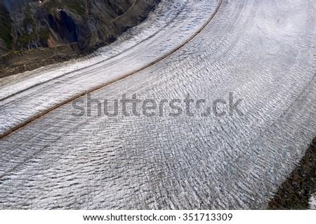 Kaskawulsh Glacier Detail in Kluane National Park, Yukon - stock photo