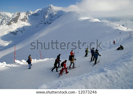 Kasprowy Mountain ski resort  (Tatra Mountains, Zakopane, Poland) - stock photo