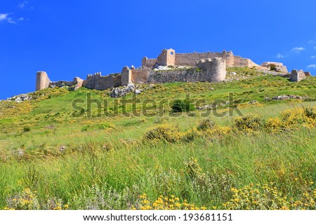 Kastro Larissa, a Venetian fortress built on top of the old Greek citadel, Argos, Greece - stock photo