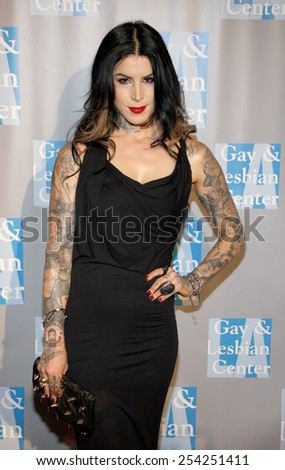 """Kat Von D at the L.A. Gay & Lesbian Center's """"An Evening With Women"""" held at the Beverly Hilton Hotel in Los Angeles, California, United States on May 19, 2012. - stock photo"""