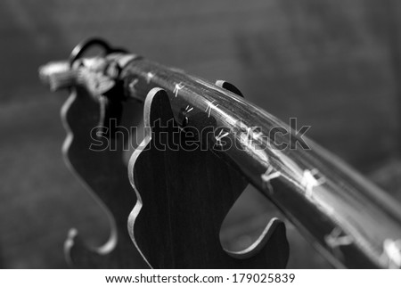 Katana sword with historical stand - stock photo