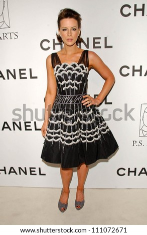 Kate Beckinsale at the Chanel and P.S. Arts Party. Chanel Beverly Hills Boutique, Beverly Hills, CA. 09-20-07 - stock photo