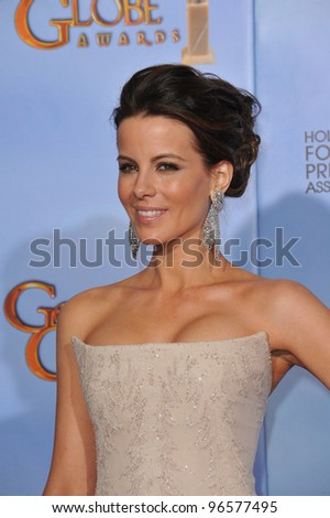 Kate Beckinsale at the 69th Golden Globe Awards at the Beverly Hilton Hotel. January 15, 2012  Beverly Hills, CA Picture: Paul Smith / Featureflash