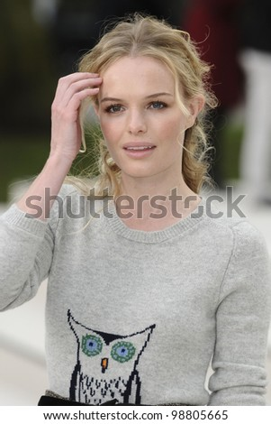 Kate Bosworth arriving for the Burberry Prorsum fashion show as part of London Fashion Week 2012 A/W in Kensington Gardens, London. 20/02/2012 Picture by: Steve Vas / Featureflash - stock photo