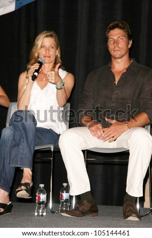 Kate Vernon and Michael Trucco at 'Battlestar Galactica' Auction Preview Day and Actor Panel. Pasadena Convention Center, Pasadena, CA. 05-07-09