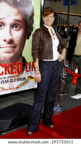"""Kate Walsh attends Los Angeles Premiere of """"Knocked Up"""" held at the Mann Village Theatre in Westwood, California, on May 21, 2007.   - stock photo"""