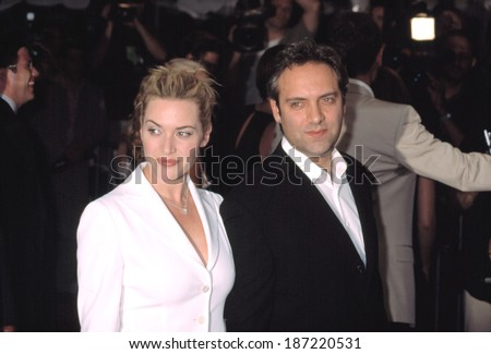 Kate Winslet and Sam Mendes, director, at premiere of ROAD TO PERDIITION, NY 7/9/2002