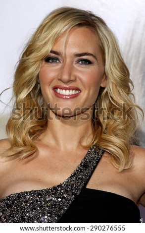 Kate Winslet at the Los Angeles premiere of 'Revolutionary Road' held at the Mann Village Theater in Westwood on December 15, 2008.