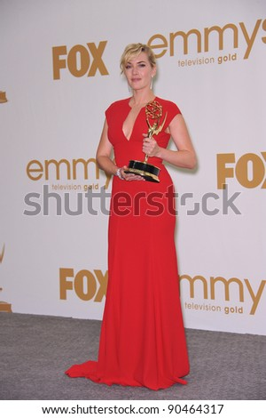 Kate Winslet in the press room at the 2011 Primetime Emmy Awards at the Nokia Theatre L.A. Live in downtown Los Angeles. September 18, 2011  Los Angeles, CA Picture: Paul Smith / Featureflash - stock photo