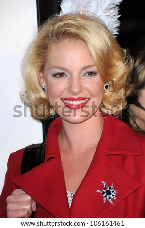 Katherine Heigl   at Los Angeles Premiere of 'Marley and Me'. Mann Village Theater, Los Angeles, CA. 12-11-08 - stock photo