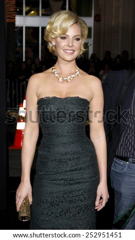 "Katherine Heigl at the Los Angeles Premiere of ""New Year's Eve"" held at the Grauman's Chinese Theater in Los Angeles, California, United States on December 5, 2011.  - stock photo"