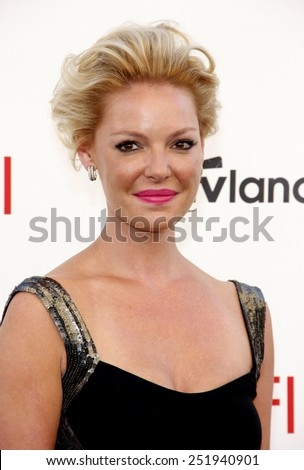 Katherine Heigl at the 40th AFI Life Achievement Award Honoring Shirley MacLaine held at the Sony Studios in Los Angeles, United States, 070612.  - stock photo