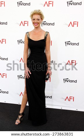 Katherine Heigl at the 40th AFI Life Achievement Award Honoring Shirley MacLaine held at the Sony Studios in Los Angeles on June 7, 2012.  - stock photo
