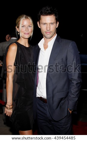 "Katherine Kovarik and Jeffrey Donovan at the Los Angeles Premiere of ""Changeling"" held at the Academy of Motion Picture Arts and Sciences in Beverly Hills, USA on October 23, 2008. - stock photo"