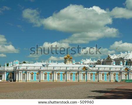 Katherine's Palace  tsarskoye Selo by St Petersburg, Russia - stock photo