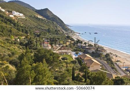 Kathisma beach at Lefkada island, Greece - stock photo