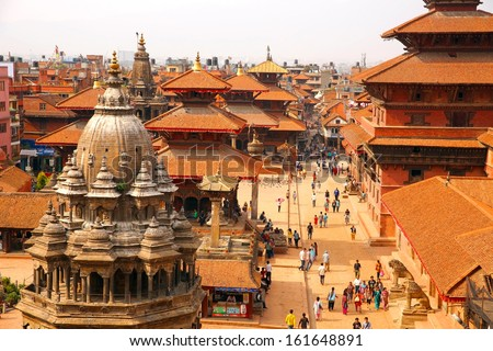 KATHMANDU, NEPAL - JUNE 2013: Patan Durbar Square - stock photo