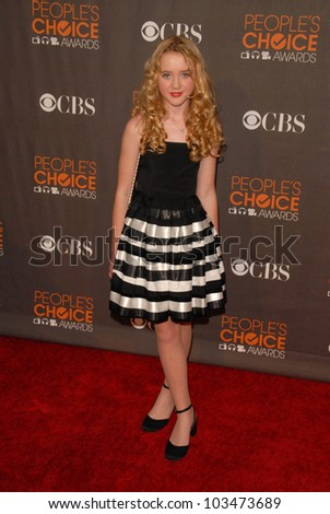 Kathryn Newton at the arrivals for the 2010 People's Choice Awards, Nokia Theater L.A. Live, Los Angeles, CA. 01-06-10