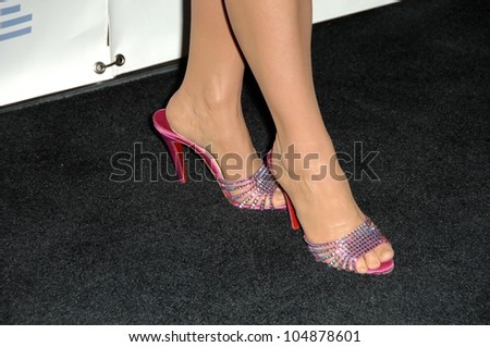 Kathy Griffin's shoes at the 20th Annual GLAAD Media Awards. Nokia Theatre, Los Angeles, CA. 04-18-09