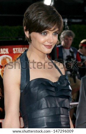 """Katie Holmes  arriving at  """"Tropic Thumder"""" Premiere at the Mann's Village Theater in Westwood, CA August 11, 2008 - stock photo"""