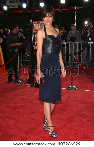 Katie Holmes at the Los Angeles Premiere of 'Tropic Thunder'. Mann's Village Theater, Westwood, CA. 08-11-08