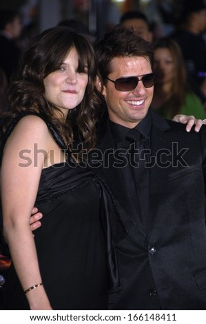 Katie Holmes, Tom Cruise at Mission Impossible III screening for Tom Cruise Fan Club, Grauman's Chinese Theatre, Los Angeles, CA, May 04, 2006 - stock photo