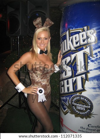 Katie Lohmann at the Milwaukee's Best Party, Playboy Mansion, Beverly Hills, CA 03-08-07 - stock photo