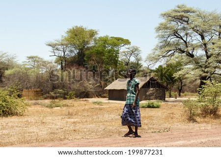 KATIMA MULILO, NAMIBIA - OCTOBER 16 2013: Local life goes on during a year of drought in the North Eastern town of Katima Mulilo in Namibia, Africa - stock photo