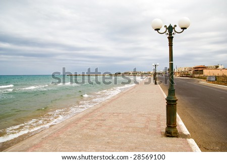 Kato Gouves (or Kato Gournes), Crete, Greece - stock photo