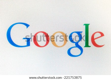 Katowice, Poland - August 14, 2014: Google.com logo. Google is one of the most popular search engines.  - stock photo