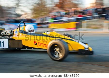 KATOWICE, POLAND - NOVEMBER 6: F1 at race iLoveRally 2011 on November 6, 2011 in Katowice, Silesia, Poland. - stock photo