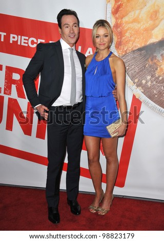 "Katrina Bowden & Chris Klein at the US premiere of their new movie ""American Reunion"" at Grauman's Chinese Theatre, Hollywood. March 19, 2012  Los Angeles, CA Picture: Paul Smith / Featureflash - stock photo"