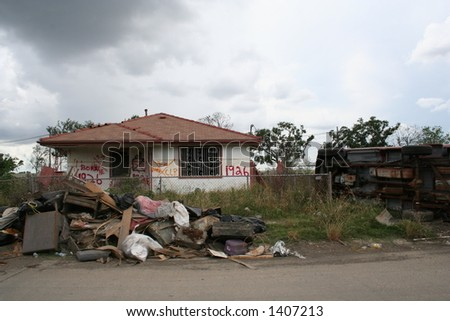 katrina destruction - stock photo