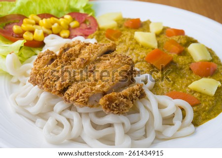 Katsu with Curry with rice  - stock photo