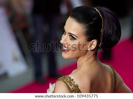 Katy Perry arriving for the 'Katy Perry, Part Of Me 3D' premiere, at Empire Leicester Square, London. 03/07/2012 Picture by: Simon Burchell / Featureflash - stock photo