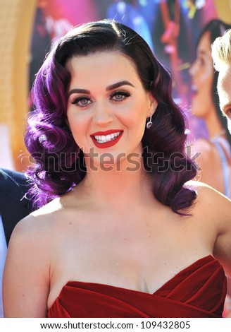 """Katy Perry at the Los Angeles premiere of her new movie """"Katy Perry: Part of Me"""" at Grauman's Chinese Theatre, Hollywood. June 27, 2012  Los Angeles, CA Picture: Paul Smith / Featureflash - stock photo"""