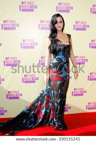Katy Perry at the 2012 MTV Video Music Awards held at the Staples Center in Los Angeles, USA on September 6, 2012.  - stock photo