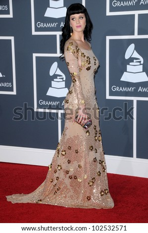Katy Perry at the 52nd Annual Grammy Awards - Arrivals, Staples Center, Los Angeles, CA. 01-31-10
