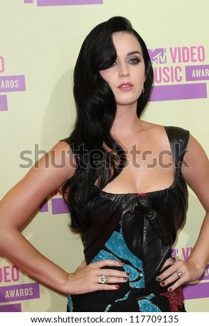 Katy Perry at the 2012 Video Music Awards Arrivals, Staples Center, Los Angeles, CA 09-06-12 - stock photo